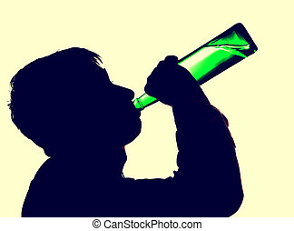 Person drinks a Beer