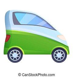 person, eins, karikatur, stil, auto, ikone, hybride