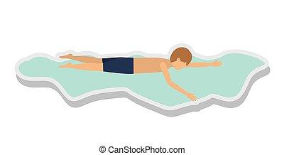 person figure athlete swimming sport icon