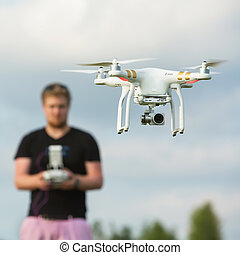 Person Flying a Camera Drone