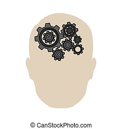 person gear brain icon