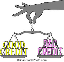 Person Good Bad Credit scales choice