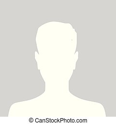 Person gray photo placeholder man silhouette on white...