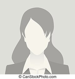 Person gray photo placeholder woman in costume on gray...