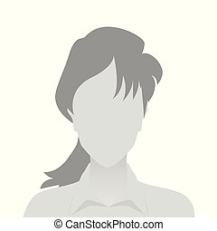 Person gray photo placeholder woman in shirt on white...