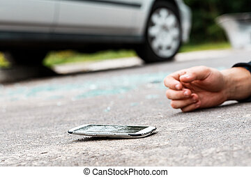 Person hit by a car
