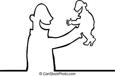 Person holding a baby