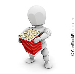 Person holding popcorn