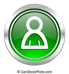person icon, green button