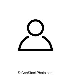 Person icon in line style. Man symbol