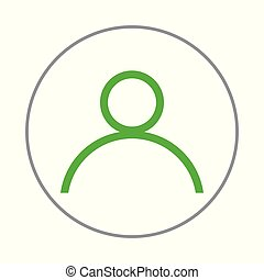 person icon on a white background. Vector illustration