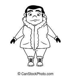 Person in antarctic character