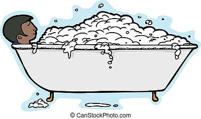 Person in Bubble Bath