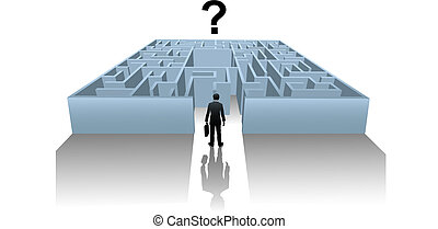 Person in Internet Maze search for business solution