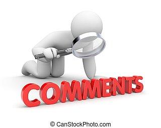 person, liest, comments