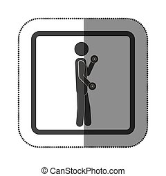 person lifting dumbbells icon