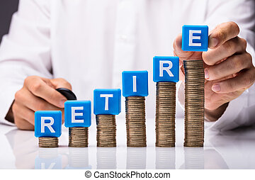 Person Making Retire Word