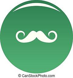 Person mustache icon vector green