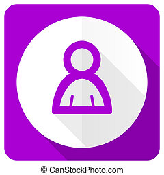 person pink flat icon