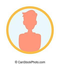 Person profile silhouette