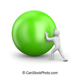 Person push ball