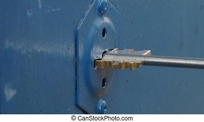 key into safe keyhole