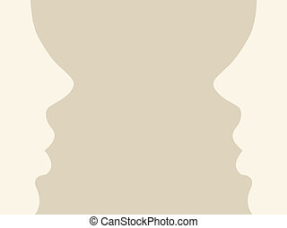 person silhouette on brown background, vector illustration