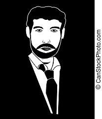 person, silhouette, schwarz