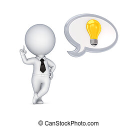 person, symbol., idee, 3d, klein