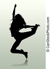 Person - The illustration of a silhouette of the person...