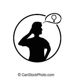 person thinking illustration