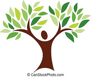 person, træ