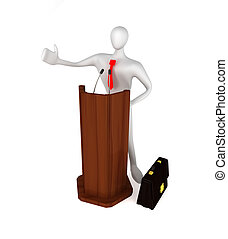 person, tribune, talande, 3