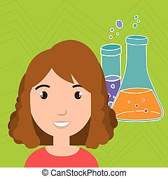 person tube lab chemistry