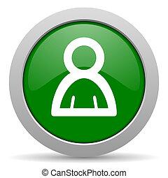 person, web, grün, glänzend, ikone