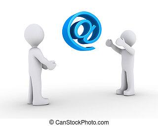 person, werfen, symbol, eins, e-mail, noch ein