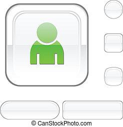 Person white button.
