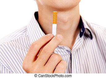 Person with a Cigarette