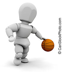 Person with basketball