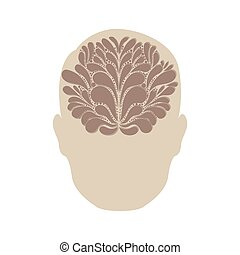 person with brain idea icon