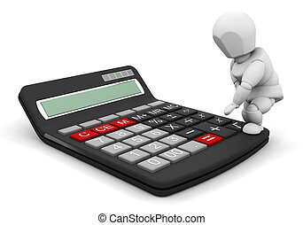 Person with calculator