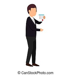 person with checklist icon