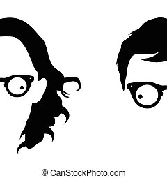 Person with glasses vector