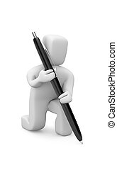 Person with pen