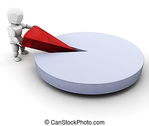 Person with pie chart