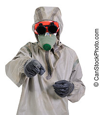 Person with respirator