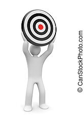 Person with target