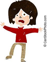 persona, cartone animato, infelice