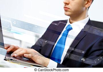 persona, computer, affari, lavorativo