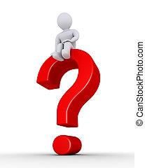persona, domanda, esso, marchio